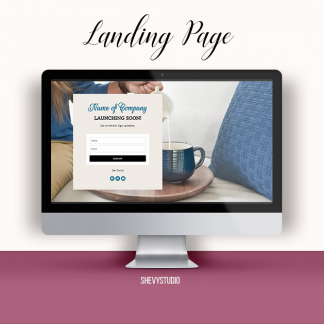landing page coming soon cafe