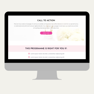 Course Sales Page Template Pink