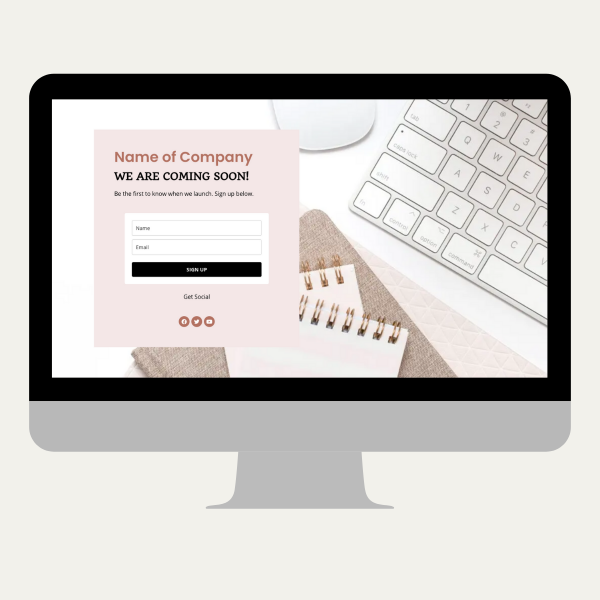 landing page coming soon