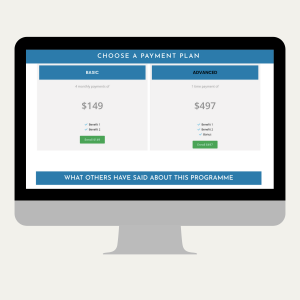 sales page landing page